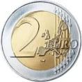 Zwei Euromünze