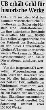 Kieler Nachrichten vom 17. Mai 2017