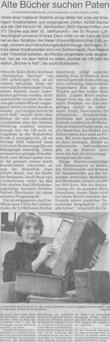 Kieler Nachrichten vom 8. März 2002