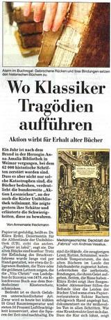 Kieler Nachrichten vom 3. September 2005