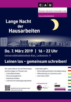 Lange Nacht der Hausarbeiten 2019 Plakat